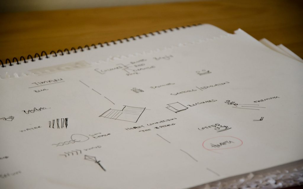 We Love Timaru Sketches. The design process by Yellow Design.